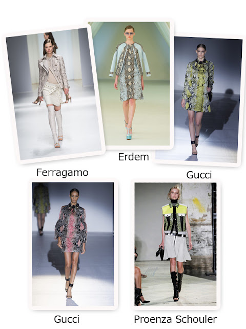 Spring 2013 Trend Snake and Croc Prints