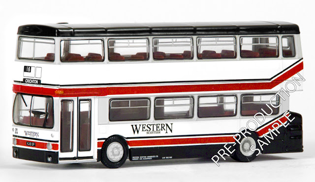 Exclusive First Editions:28012 - Leyland DMS 1 Door – Westerm Scottish Registration number KJD 2P, fleet number DR 819. Operates route 16 to Crichton. Scheduled for an April release RRP £34.50