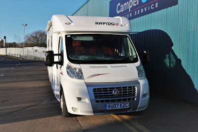 I Go To View The Rapido 7099 F at Camper UK