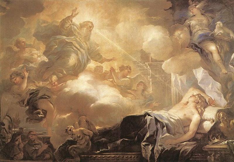 http://en.wikipedia.org/wiki/File:Luca_Giordano_-_Dream_of_Solomon_-_WGA09004.jpg