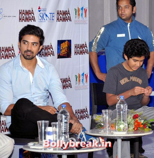 Saqib Saleem and Partho Gupte, Pragya Yadav skate at Hawaa Hawaai Promotion