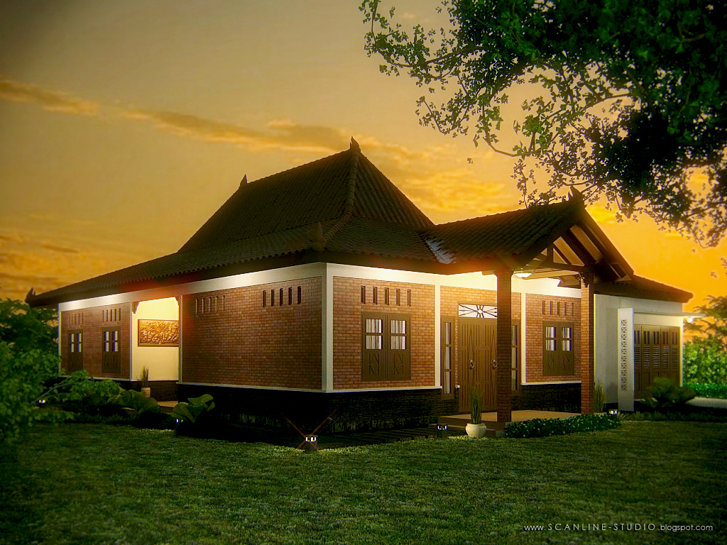 Keistimewaan Desain Rumah Joglo Minimalis Arsitektur Cantik Jawa Tengah Gambar