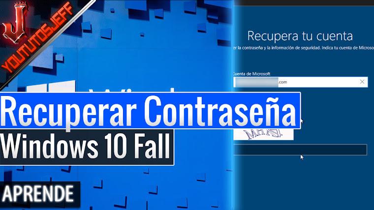Como recuperar la contraseña de Windows 10 Fall Creators Update