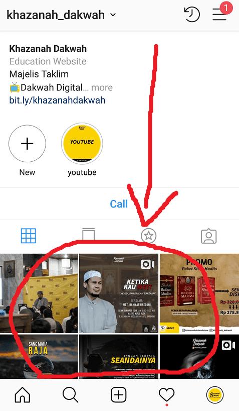Pilih Konten Instagram