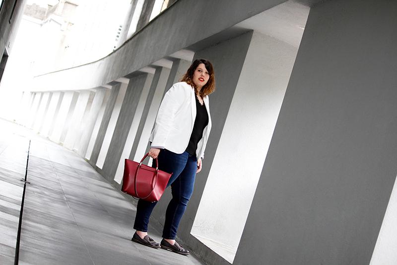 Collage of Style - Outfit con americana blanca y jeans - Por Almudena Duran IV