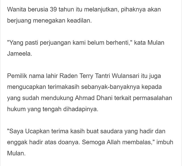 Mulan Jameela Terpaksa Akui Hal Ini Pasca Ahmad Dhani Dipenjara, Dul