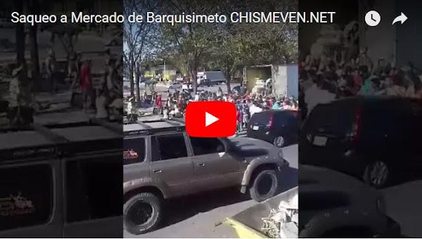 Saqueo en el Mercado mayorista de Barquisimeto