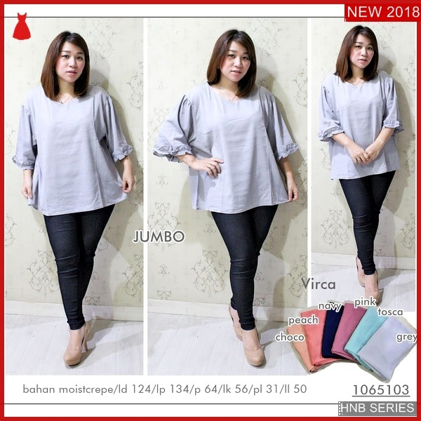 HNB183 Model Blouse Bordir Ukuran Besar Jumbo Modis BMG Shop