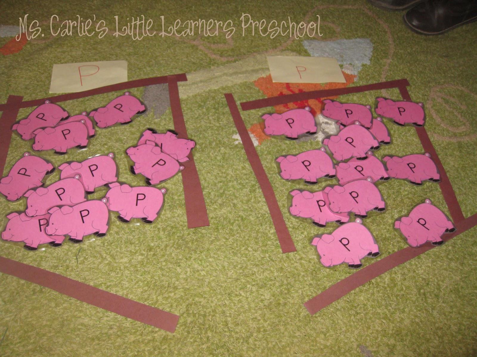 Ms Carlie S Little Learners Preschool Letter P Games