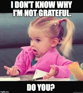 Second Block to Gratitude