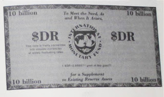 Image of an International Monetary Fund's SDR in black and white