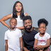 Comedian Basketmouth,wife and kids in adorable family photo..