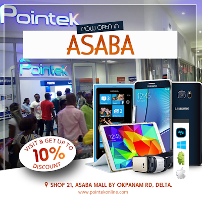 Pointek, The Award Wining Mobile Phone Retailer of the Year Opens at Asaba
