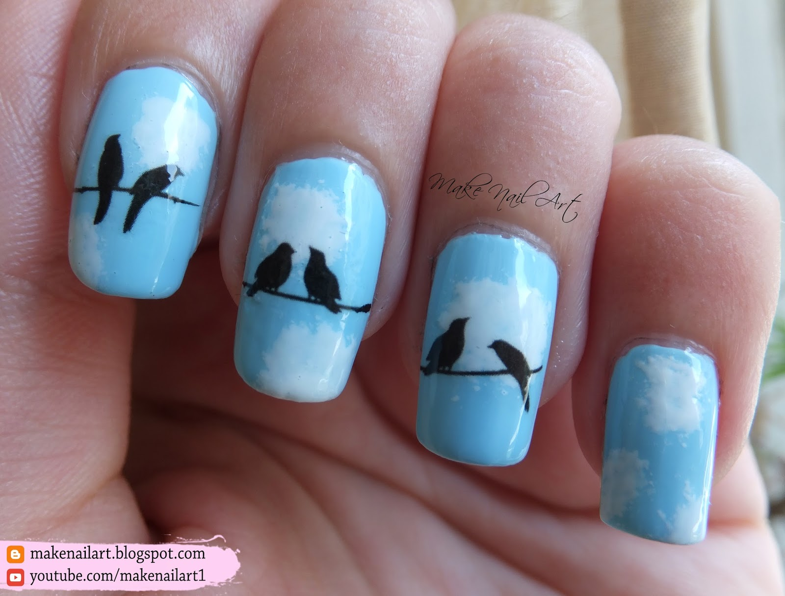 Make Nail Art Birds On A Wire Nail Art Design Nicole Diary Review