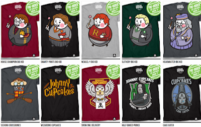"Harry Potter ""Wizarding World of Johnny Cupcakes"" T-Shirt Collection"