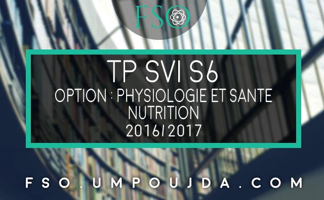 "SVI S6 - PS : Compte Rendu TP 1 ""Nutrition"""