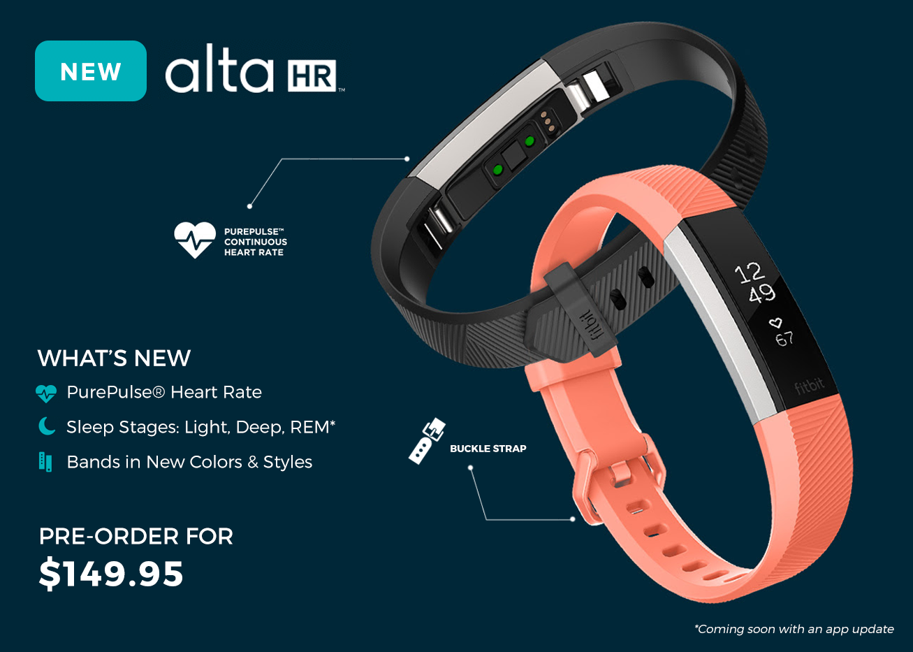 Fitbit Alta HR New Features