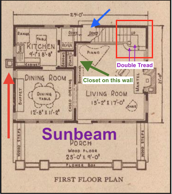 Sears Sunbeam living room closet