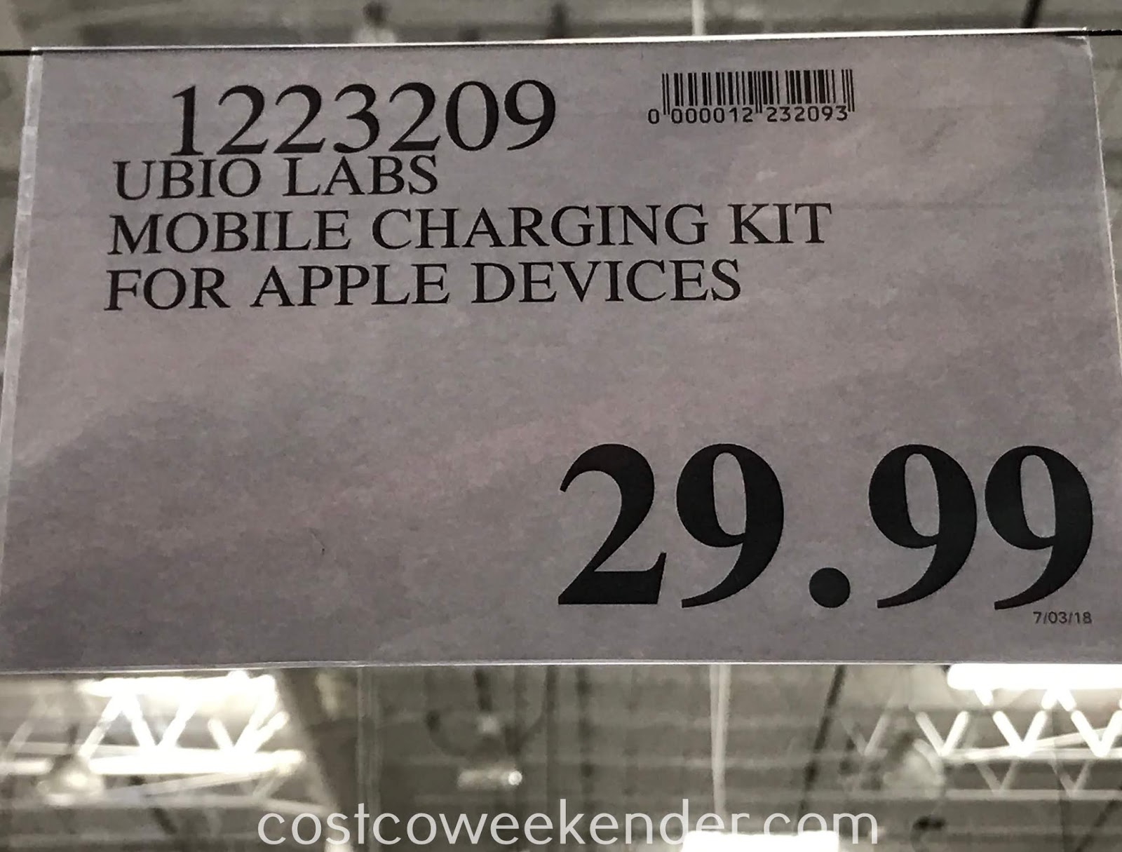 Deal for the Ubio Labs Mobile Charging Kit with Lightning Cables at Costco