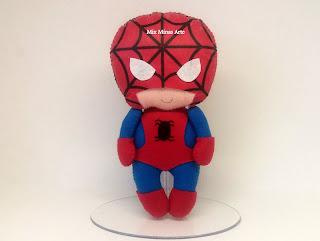 centro de mesa homem aranha
