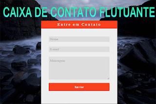 Caixa de contatos flutuante para blogger