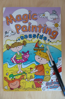 Magic painting book with water