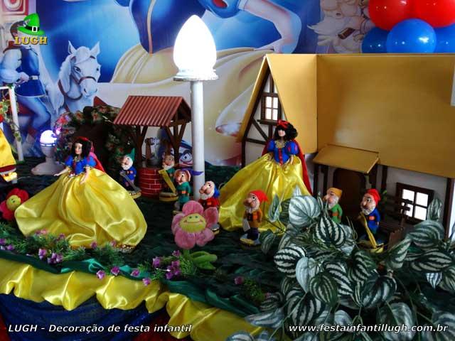 Decoração de aniversário Branca de Neve - Festa infantil