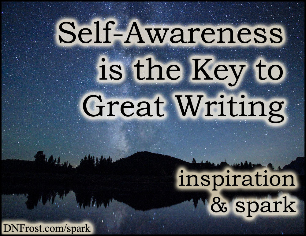 Self-Awareness is the Key to Great Writing: the humanity behind good characters http://www.dnfrost.com/2016/06/self-awareness-is-key-to-great-writing.html #TotKW Inspiration and spark by D.N.Frost @DNFrost13 Part of a series.