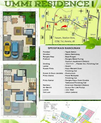 Ummi Residence Rumah 2 lantai di Cibinong Bogor
