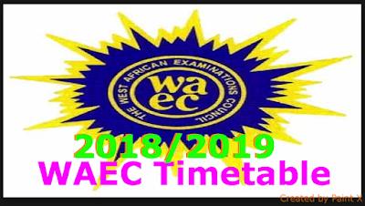 Waec Timetable Pdf 2018