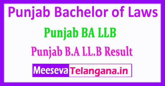 Punjab BA LLB Result Bachelor of Laws 2018 Result Download