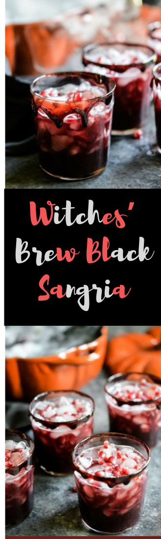 Witches' Brew Black Sangria #halowendrink