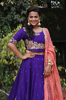 Actress Shraddha Srinath in Purple Chania Choli Cute Pics ~  Exclusive 07.jpg