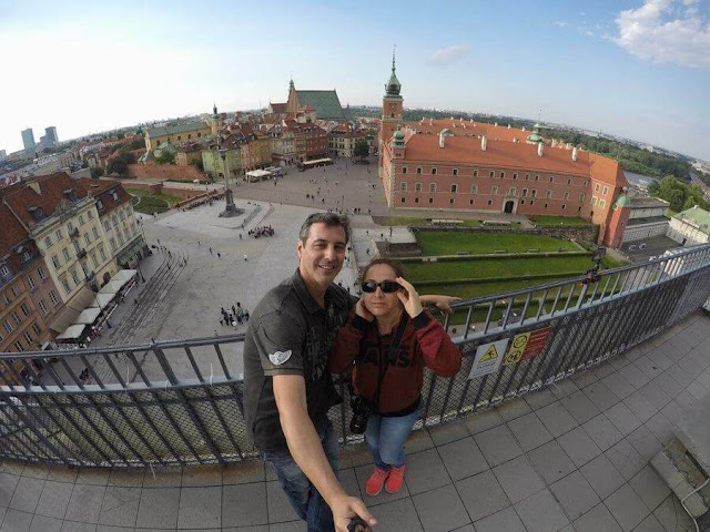 panoramica castillo real plaza  en Varsovia