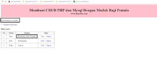 Membuat CRUD PHP dan Mysql Dengan Mudah Bagi Pemula – Mengupdate Data Dari Database