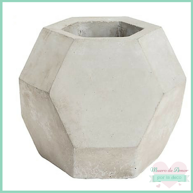 Decoración portavelas de cemento