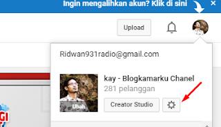 Cara melihat id cahnel youtube sendiri