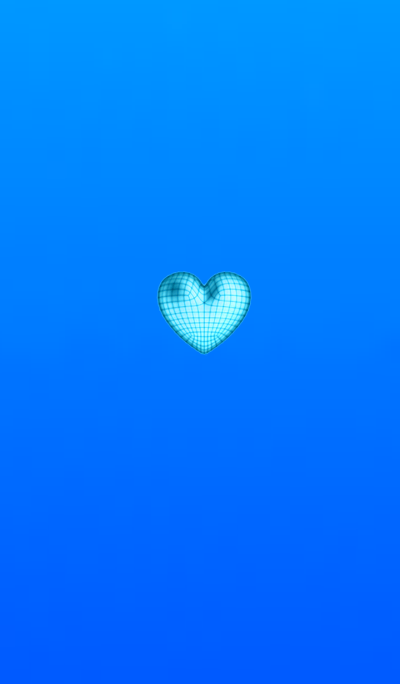Wire Heart Blue
