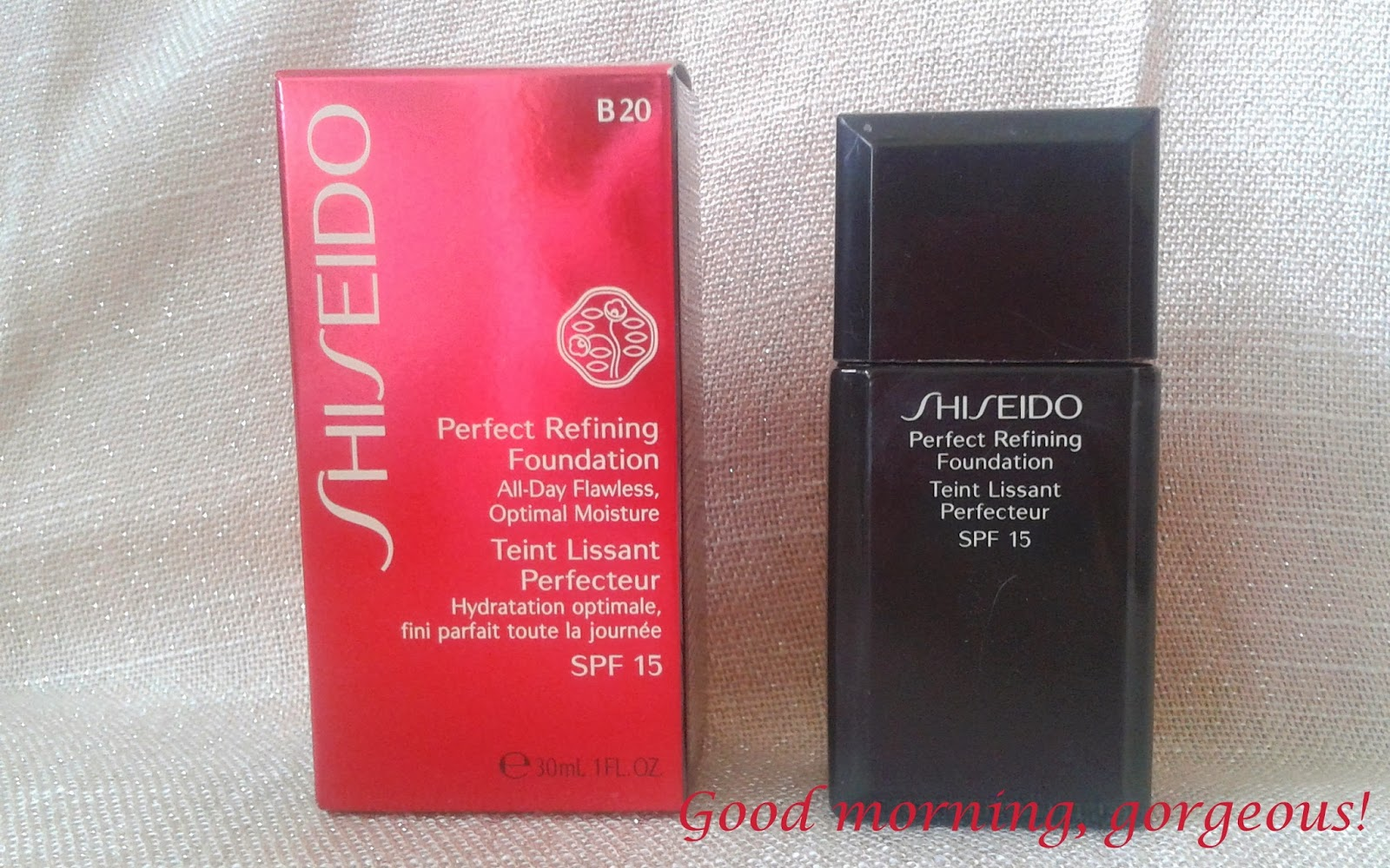 shiseido perfect refining foundation good morning gorgeous. Black Bedroom Furniture Sets. Home Design Ideas