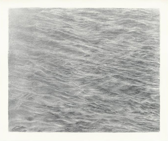 Vija Celmins Untitled (Ocean), 2014 Charcoal on acrylic ground on paper 39 x 47 cm