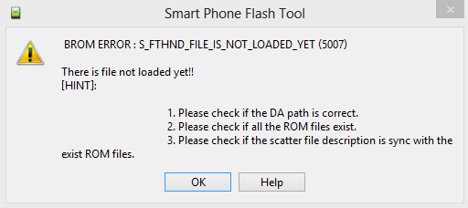 brom error s_storage_not_match 3183