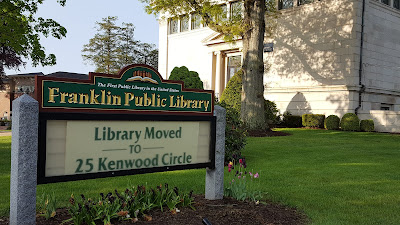 Friendly reminder that the LIbrary is operating it's normal hours from the temporary location  at 25 Kenwood Circle while the renovations take place for the next year