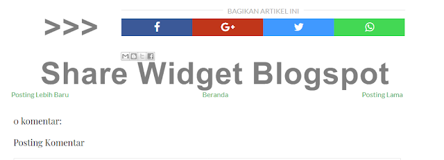 responsive share widget blogspot