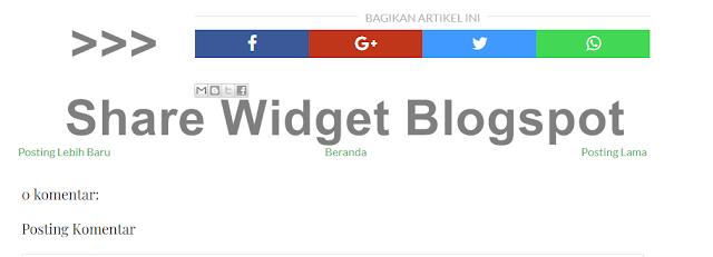 responsive share widget blogspot