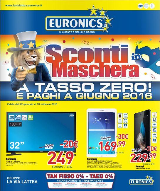 Volantino Euronics La Via Lattea - Febbraio 2016 - Ultimo - Nuovo