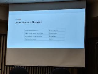 level service budget summary