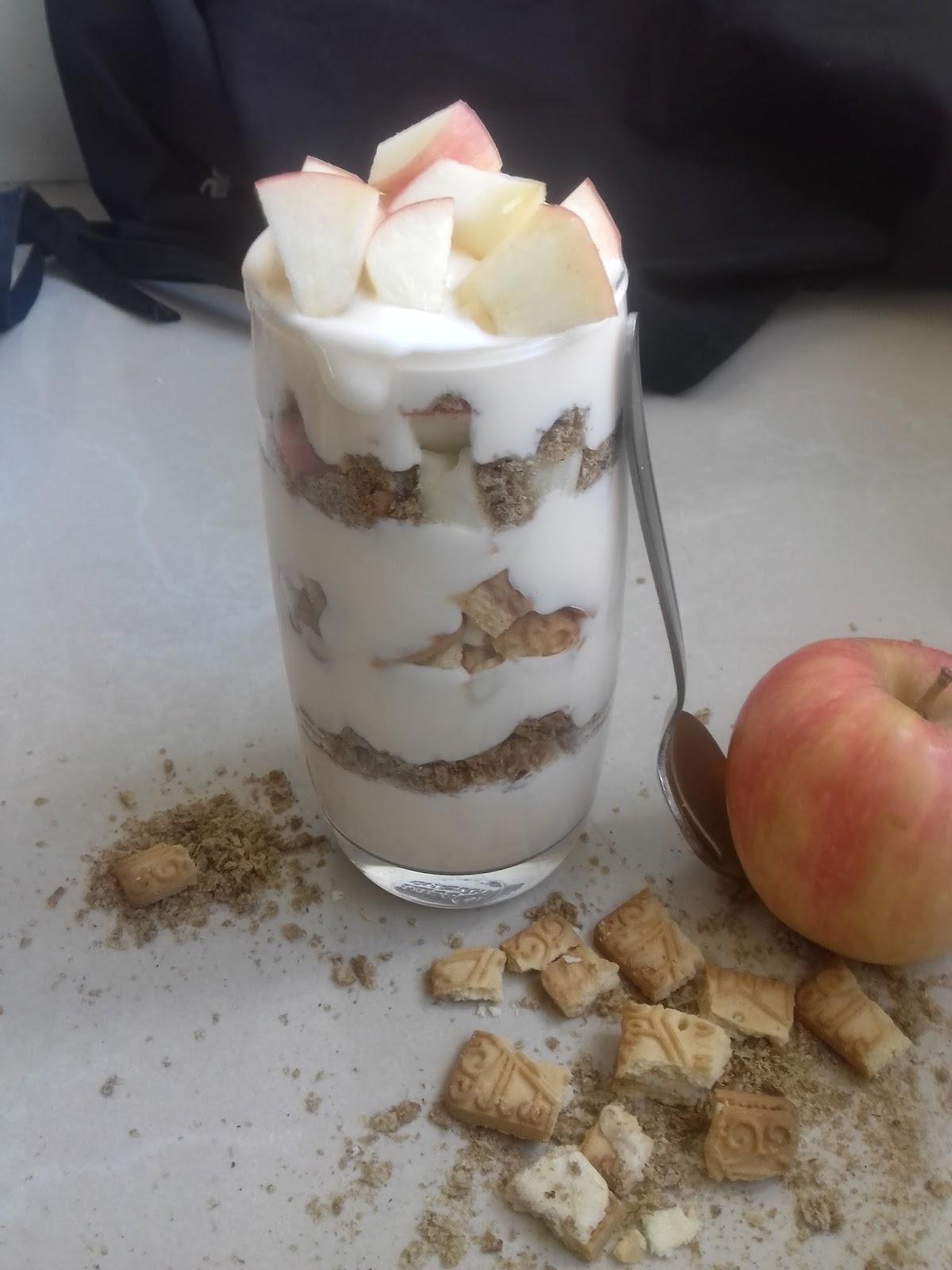 peach yogurt apple parfait dessert recipe