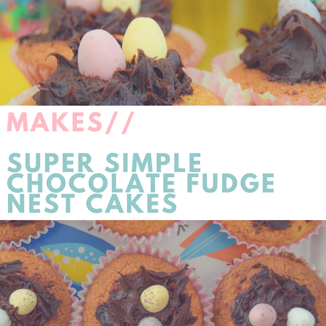 Simple easter kids children baking recipes nest eggs cake cupcakes muffins