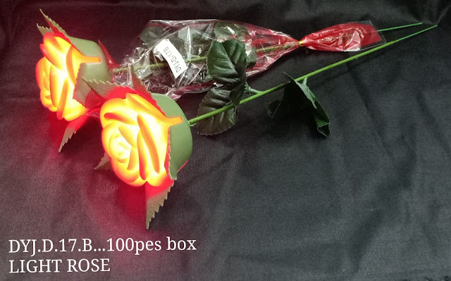 [2 pcs] LED Light Red Rose | Valentine Gift