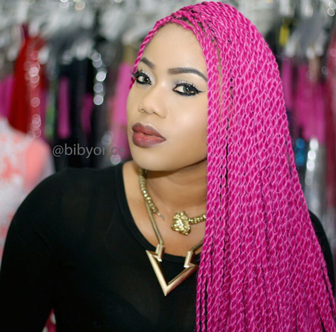 Stella Dimoko Korkus.com: Coloured Braids/Weaves Trending Now?
